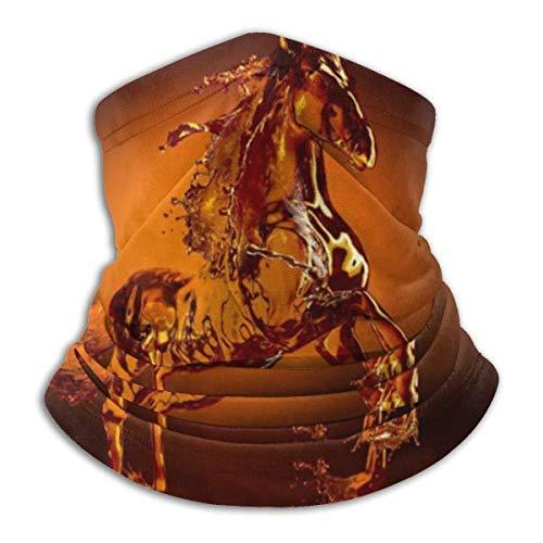 WlQshop Sugar Figurine Running Horse Ski Mask Cold Weather Schlauchschal Neck Warmer Fleece Hood Winter Hats