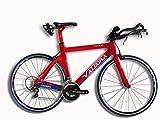 Valdora PHX-2 Carbon Fiber Triathlon Bike Frameset - Medium - Red and Blue with White Graphics