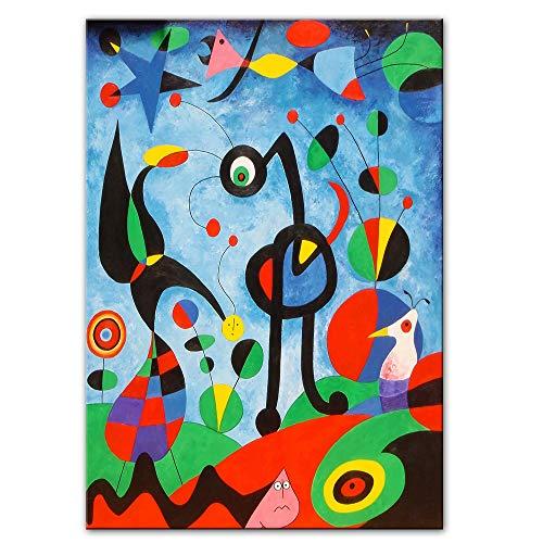 Mode Leinwand Malerei Der Garten 1925 Von Joan Miro Berühmte Kunstwerke Reproduktionen Abstrakte Gemälde von Joan Miro Wandbilder Home Wall Decor 60 * 90cm