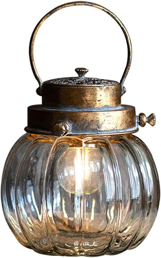 Craft Candlesticks LED Nostalgic Bottle Night Lantern Free shipping anywhere in the nation Li online shopping Battery