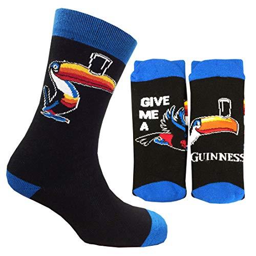 Guinness Official Merchandise H9113 Accessori, calzino, Black, Taglia Unica Regular Uomo