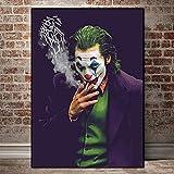 KWzEQ Movie Star Clown Wall Art pósters e Impresiones sobre Lienzo,Pintura sin Marco,30X45cm