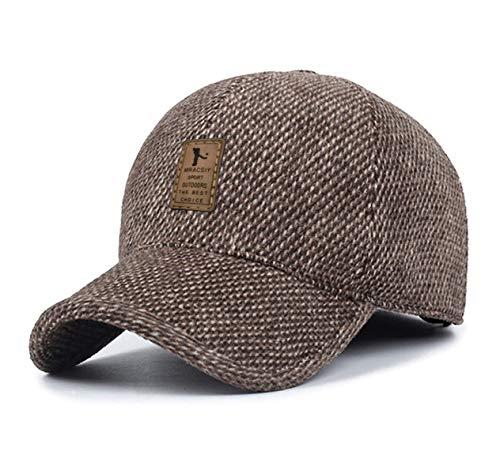 MRACSIY Berretti da Baseball Unisex Cappellini Invernali Cappelli per Circonferenza della Testa 56-60cm (Giallo)