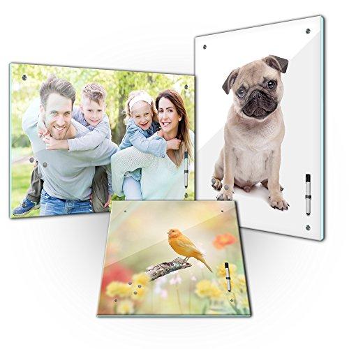 Memoboard - Personalisierbar mit Ihrem Wunschmotiv - SOFORT VORSCHAU - 60 x 40 cm / 40 x 60 cm / 40 x 40 cm einzigartige Geschenkidee, mit Ihrem eigenem Foto - Kind - Familie - Haustier – Urlaub