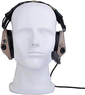 Tactical Sordin Auriculares, auriculares con nuevo estándar militar enchufe, DE