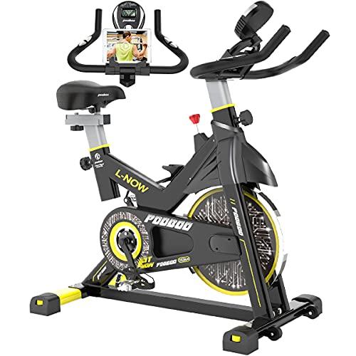 pooboo Indoor Cycling Bike, Belt Drive Indoor Exercise...