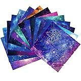 DXIA 150 Hojas Origami, Papel Origami 15x15 cm, Doble Cara Papel Papiroflexia Constelación Cielo Nocturno Papel, 12 Diseños Diferentes Papel de Origami Set Para Proyectos de Arte y Manualidades