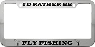 I/'D RATHER BE FLYING Metal License Plate Frame Tag Holder Two Holes