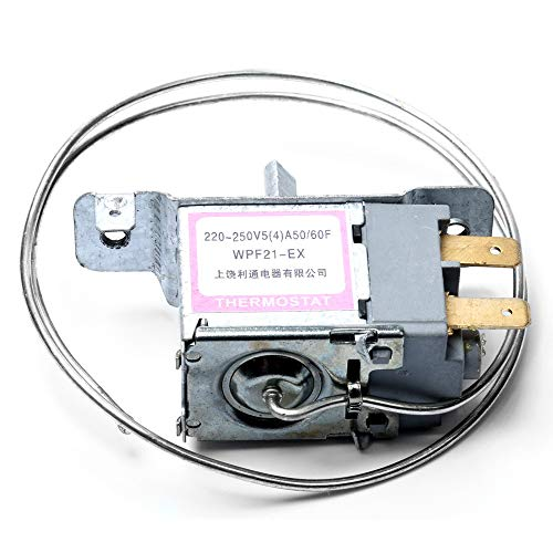 CROSYO 1pc refrigerador termostato wpf21-ex Dos Montaje Lateral 2 Pines Probe 50 cm Congelador Controlador de Temperatura Piezas de refrigerador