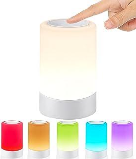G keni ナイトライト 電球色 ベッドサイドランプ (4段階調光・RGB調色) タッチセンサー 明るさ調節 USB充電式 ルームライト コードレス テーブルランプ 間接照明 常夜灯 LEDランタン 雰囲気作りライト 日本語説明書付