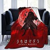 Naruto Uchiha Madara Fleece Blankets Throw Plush Microfiber Blanket, for Couch Bedroom Sofa Living Room,Lightweight Super Soft Warm Decor 60'X50'