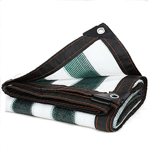 HUO Couverture D'isolation Thermique De Fabrication D'ombre De Jardin 95% Anti-UV Sun Net Green + Blanc (Couleur : Green+White, Taille : 2 * 8m)