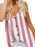 Zanzea - Camiseta sin mangas con cuello en V y tirantes ajustables para mujer
