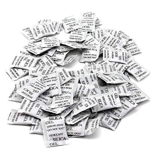 YouU Beutel mit Trockenmittel, 100 Stück x 1 g, Silicagel-Säckchen, entziehen Feuchtigkeit, Dampf, Schimmel, Gerüche, Luftentfeuchter