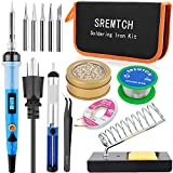 Electronics Soldering Iron Kit - 80W Digital LCD Solder Gun with ON/OFF Switch Adjustable Temperature Controlled and Fast Heating Thermostatic Design Welding Tools for DIY Welding Circuit Board (80W)