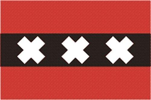 U24 Fahne Flagge Amsterdam Bootsflagge Premiumqualität 20 x 30 cm