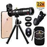 Cell Phone Camera Lens,Phone Photography Kit-Flexible Phone Tripod...