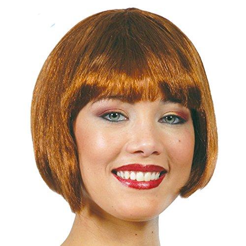 perruque moitié cheveux bruns