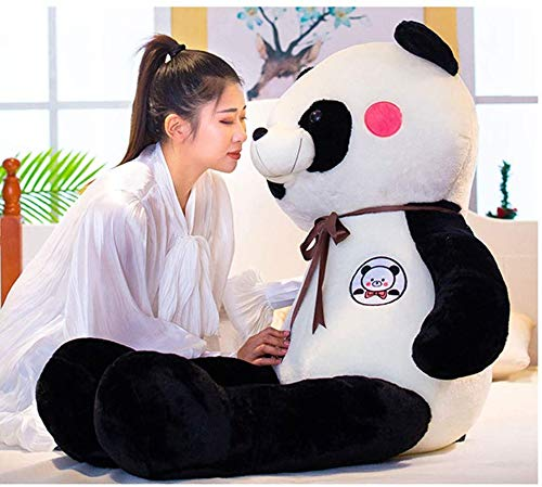 Xiaokang Panda muñeca Abrazo Oso Chica Peluche Juguete Perezoso Almohada de Almohada Linda muñeca Linda muñeca 160cm,60cm