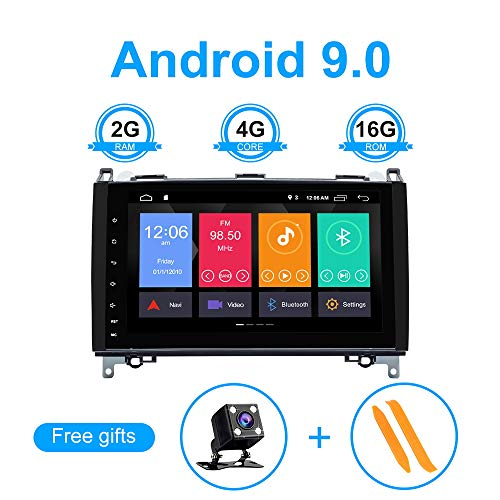 ZLTOOPAI 9 Zoll Android 10 Autoradio GPS Stereo für Mercedes-Benz W169 A150 / A160 / A170 / A180 / A200 W245 B160 / B170 / B180 / B200 W639 Vito Viano W906 Sprinter 2500/3000 VW Crafter ab 2006