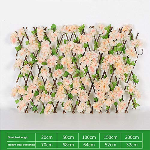 Artificial Hedges Hedge Screening Garden Ivy Trellis Faux Fencing-Wooden Hedge With Artificial Flower Leaves Garden Decoration Screening Expanding Trellis -Privacy Screen