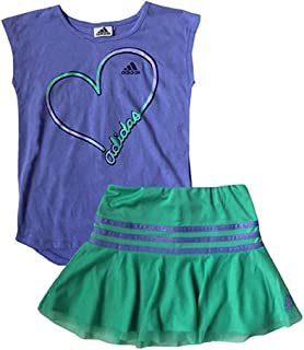 Girl's 2 Piece Athletic T-Shirt & Skort Set