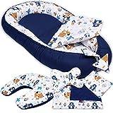 6-tlg PALULLI Baby Ausstattung-Set - Babynest mit Stillkissen, Baby-Matratze, Kuscheldecke, Flachkissen, Nackenkissen, kuschelweich für Babys (AZTEC)