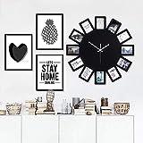 AIOJY Creative Foto Marco De Pared Reloj De Pared Europa Personalidad Relojes Decorativos Dormitorio Mute Nave Regalo