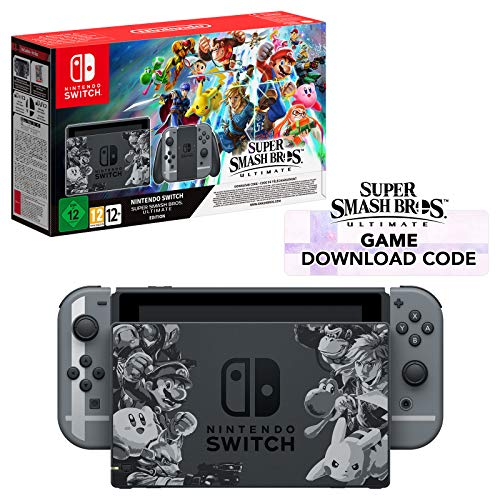 Nintendo - Nintendo Switch Ltd Ed Console Super Smash Bros. Ultimate + Super Smash Bros. DLC (UK) /Switch (1 GAMES)