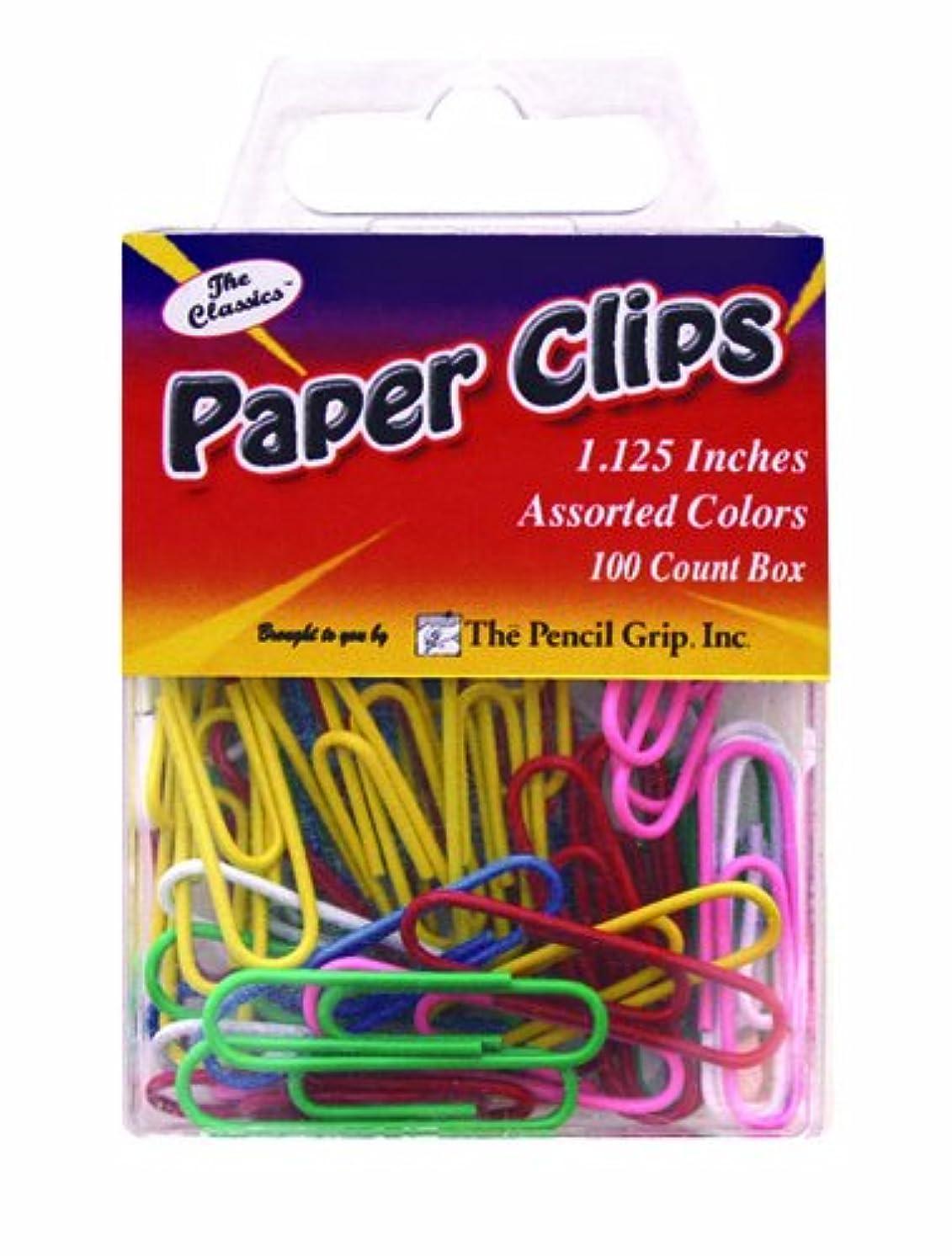 Pencil Grip The Classics 1.125 Inch Paper Clips, Assorted Colors, 100 Clips per Box, 6 Boxes per Pack (TPG-22306)