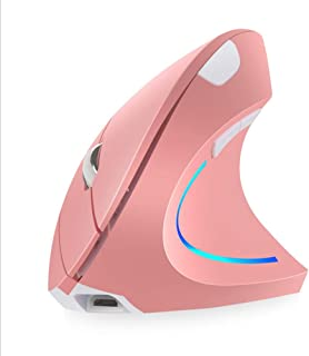 mouse vertical, diestros, 2,4 GHz, inalámbrico, ergonómico, recargable, vertical, con 4 DPI ajustables, 800/1200/1600/2400...