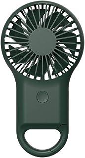 ZMYY Mini abanico USB portátil para sostener o colgar en la bolsa de pequeños ventiladores con ventilador eléctrico ligero enfriador de aire verde verde