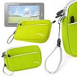DURAGADGET Funda De Neopreno Verde Lima para Acer Iconia One 8   con Bolsillo Exterior + Correa De Mano