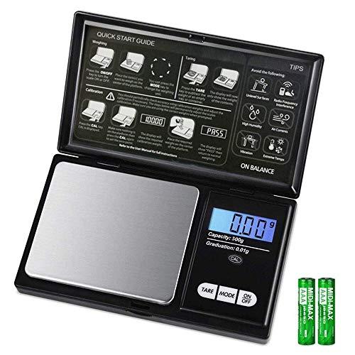 Balanada 最新版 携帯タイプ ポケットデジタル スケール 0.01g-500g精密 業務用(プロ用) デジタルスケール 電子天秤