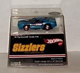 Hot Wheels Sizzlers Blue '70 Plymouth 'Cuda (Barracuda) T/A. Built-in Motor. Quick charge Sizzler car in 90 seconds. Charger sold separately.