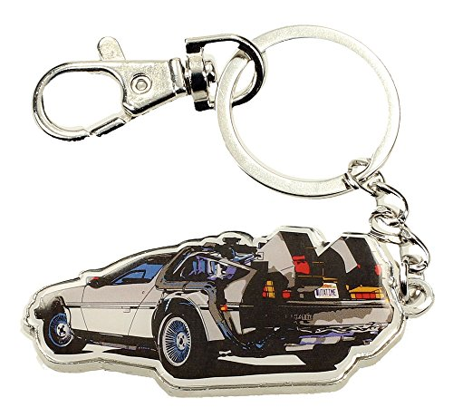 Regreso al Futuro Ritorno al Futuro Time Machine: portachiavi in metallo (Sd Toys SDTUNI20104), argento, taglia unica