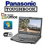 "Refurbished Panasonic CF-53 Toughbook Rugged Laptop - 14"" Touchscreen - i5 2.6GHz CPU - New 256GB Solid State Drive - 12GB RAM - Windows 7 Pro + MS Office - WiFi - DVD/CD-RW"