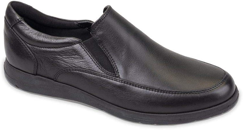 Silver 1 srl Men's Loafer Flats Black Black