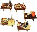 Unbekannt 1 Stück: Tisch mit Deko - Miniatur aus Holz / Maßstab 1:12 - Wurst u. Fleisch -...