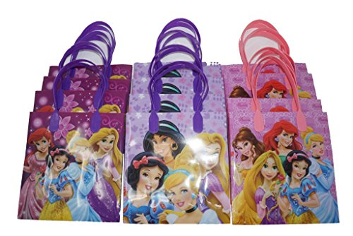 Disney Princess Party Favor Goodie Gift Bag - 6' Small Size (12 Packs)