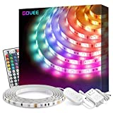 Led Strip Lights, Govee 16.4Ft Waterproof RGB Light Strip Kits with Remote
