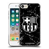 Head Case Designs Licenciado Oficialmente FC Barcelona Mármol Negro Crest Patterns Carcasa de Gel de Silicona Compatible con Apple iPhone 7 / iPhone 8 / iPhone SE 2020