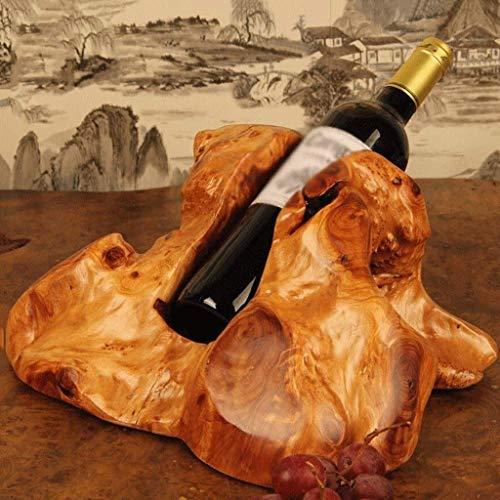 JYTBD YUN TAO - Botellero de madera tallada para vino tinto de almacenamiento de adornos creativos de moda para decoración del hogar