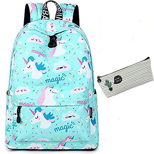 Rucksäcke Schulrucksack Schulranzen Sports Rucksack Schultasche Freizeitrucksack Backpack Daypacks für Mädchen Damen Jugendliche(Schultasche Schulrucksack Einhorn)