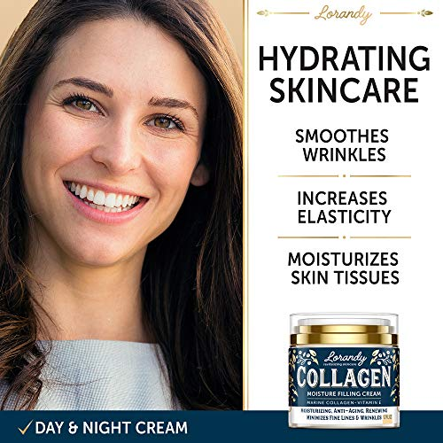 51lk0JPBHZL - Collagen Cream - Anti-Aging Face Moisturizer for Women - Made in USA - Day & Night Moisturizer for Face - Marine Collagen Face Cream - Antiwrinkle Face Cream - Collagen Face Cream with Vitamin E