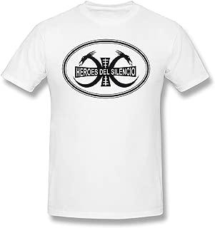 SlenTee Men Heroes Del Silencio Cool T Shirt White