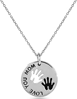 LeCalla Sterling Silver Jewelry Love You Mom Me and Mom...