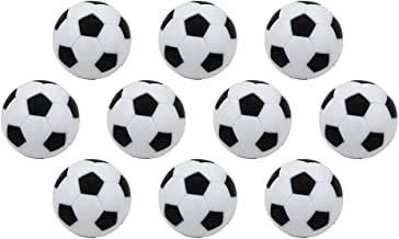 Table Soccer Foosballs Mini Football Footable Game Replacements Balls Black and White 32mm for Sports Activities 10PCS