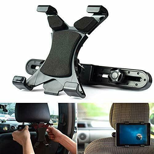 PSTZ Soporte Tablet Coche para reposacabezas en el coche, para iPad y Tabletas Samsung Galaxy de 7 – 10 pulgadas, perfecto para ninos
