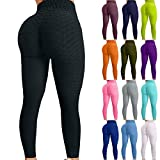 Lykmera Famous TikTok Leggings, High Waist Yoga Pants for Women, Booty Bubble Butt Lifting Workout Running Tights
